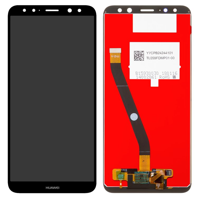 Lcd Compatible With Huawei Mate 10 Lite Black With Touchscreen Original Prc Rne L01 Rne L21 All Spares