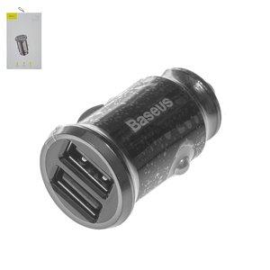 Автомобильное зарядное устройство Baseus C8 K, 12 В, 2 USB выходы 5В 3.1А , черное, #CCALL ML01