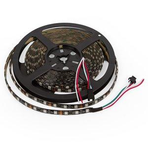 RGB LED Strip SMD5050, WS2811 (black, with controls, IP65, 12 V, 60 LEDs/m, 5 m)