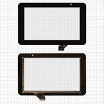 "Cristal táctil para tablet PC China-Tablet PC 7""; Prestigio MultiPad 7.0 HD (PMP3970B), MultiPad 7.0 HD (PMP5570С), 7"", 118 mm, 191 mm, 30 pin, capacitivo, negro, #ACE-CG7.0A-249/GKG0362A/GKG0469A"