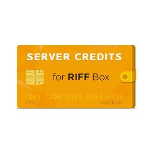 Серверные кредиты для RIFF Box