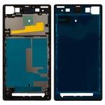 Рамка крепления дисплея Sony C6902 L39h Xperia Z1, C6903 Xperia Z1, C6906 Xperia Z1, C6943 Xperia Z1, черная