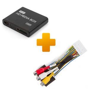 Мультимедийный Full HD-плеер и кабель подключения для мониторов Toyota Citroen и Peugeot X-Touch / X-Nav