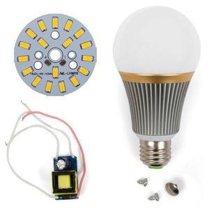 Комплект для сборки светодиодной лампы SQ-Q23 9 Вт (теплый белый, E27), диммируемый