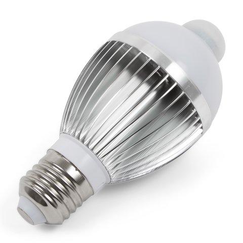 LED Light Bulb 5 W with IR Motion Sensor cold white, 450 lm, E27