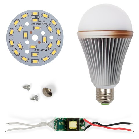 LED Light Bulb DIY Kit SQ Q24 12 W cold white, E27